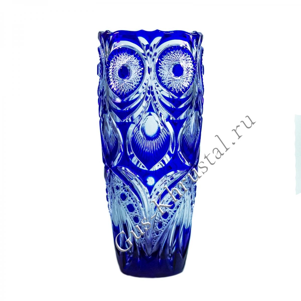 Ваза Хрустальная Для Цветов Этюд синий