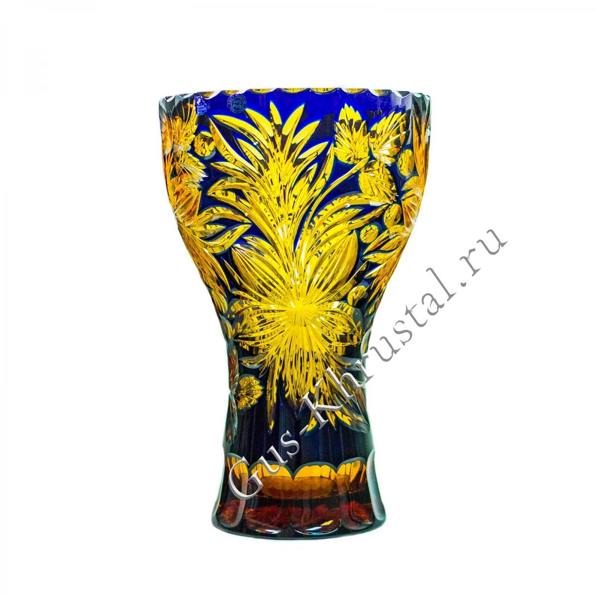 Ваза Хрустальная Для Цветов Звездная Карусель чайно-кобальтовая