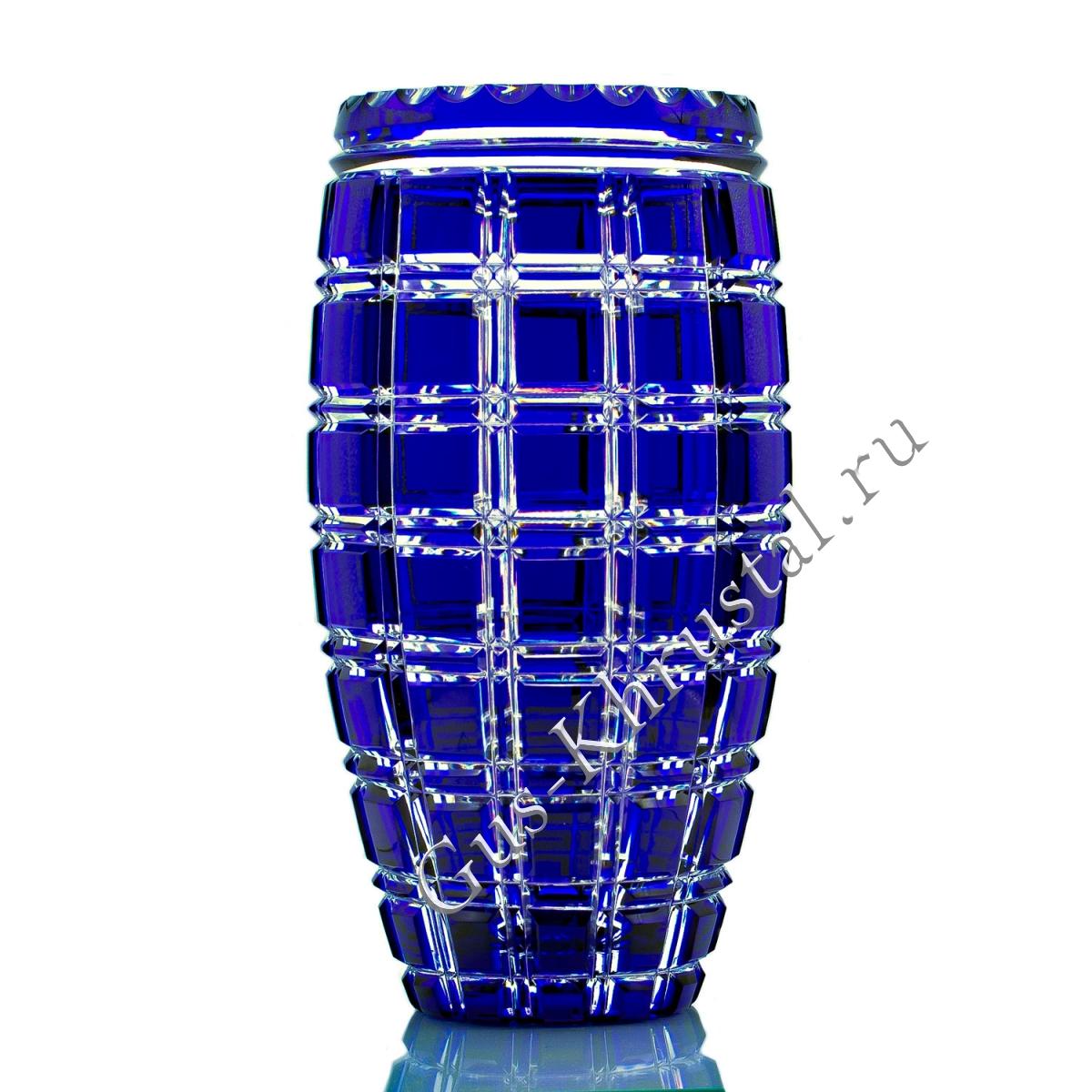 Ваза Хрустальная Для Цветов Астра Синяя